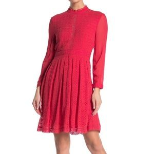 AllSaints Lilith Dress in Red Size 2